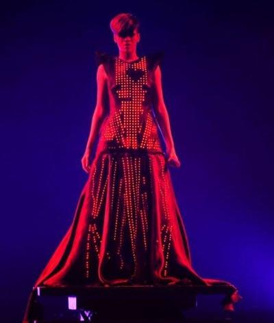 rihanna led dress